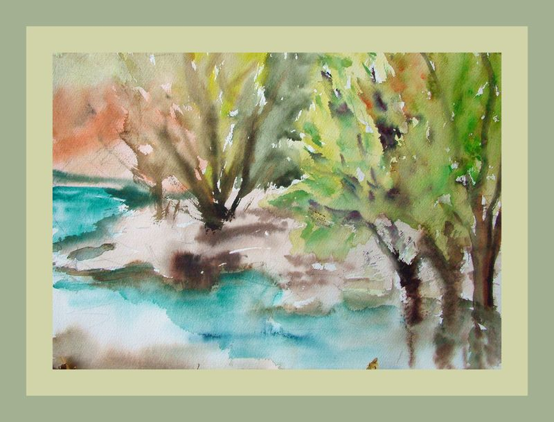 Painting with a toothbrush lac st croix