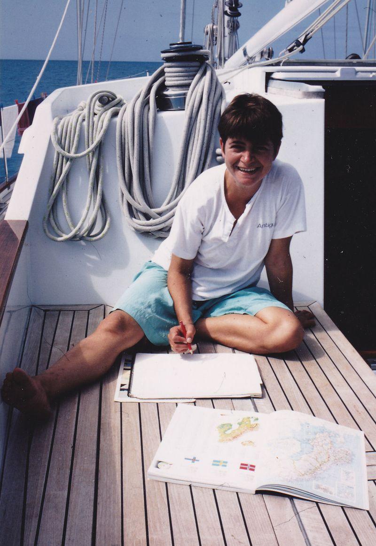 Tess on boat